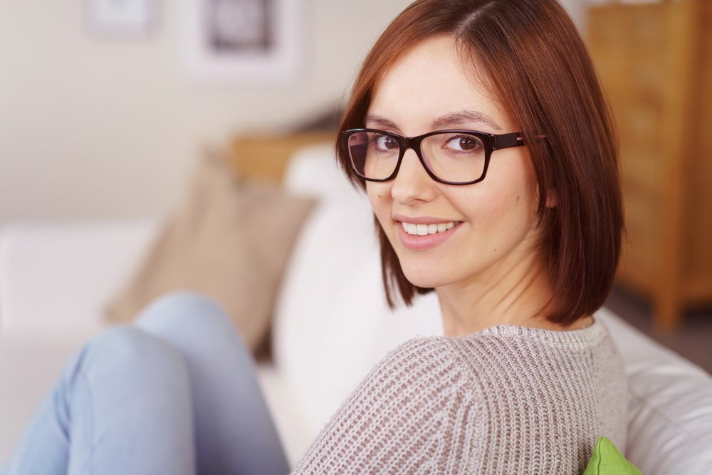 man wearing glasses is penetrating sweet brunette wildly  273250